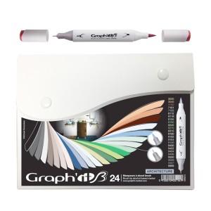 Komplekt Graph'it Brush Marker 24tk Brush Markers- Architecture