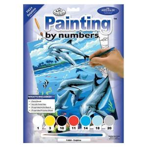 Maali Numbri Järgi. Delfiinid
