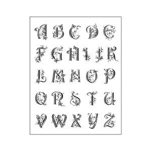 "Silikoontemplid   14X18Cm, Viva Decor, ""Alphabet """