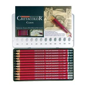 Grafiidipliiatsi Komplekt  9B-6H, 12Tk Cretacolor