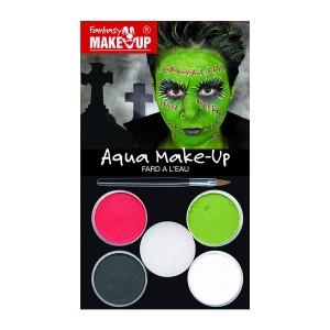 HALLOWEEN Make UP, Näovärvid 4Tk.Zombi