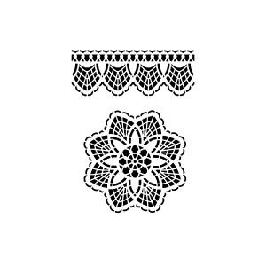 Spitzen-Ornament & Bordüre
