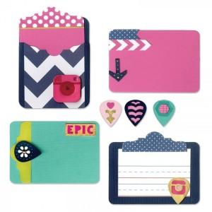Thinlits Die Set 13Pk - Pocket Card & Geo Tags By Rachael Bright