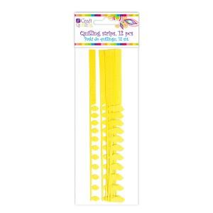 Quillingu Ribad Sakilise Servaga - Yellow, 12 Pc