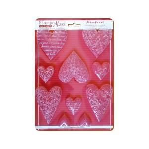 Soft Maxi Mould - Textured Hearts
