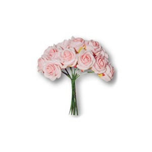 10 Pink Mousse Small Roses Bouquet