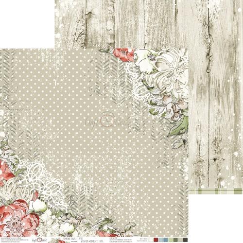 Scrapbookingu Paber 30X30cm, WINTER MOMENTS 01