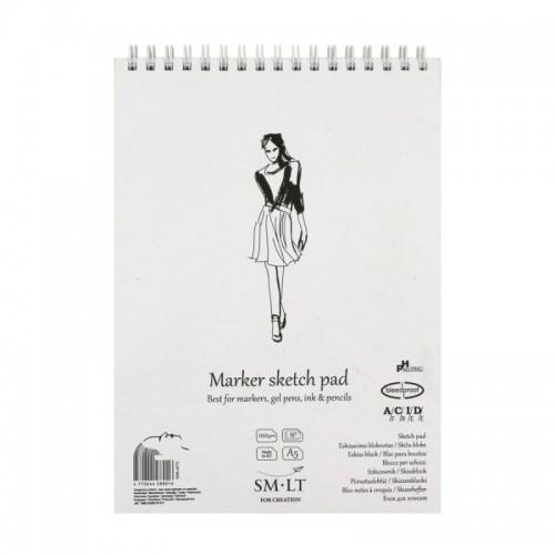 Authentic Markerite paberiplokk  ,A5, 40lh,100g/m