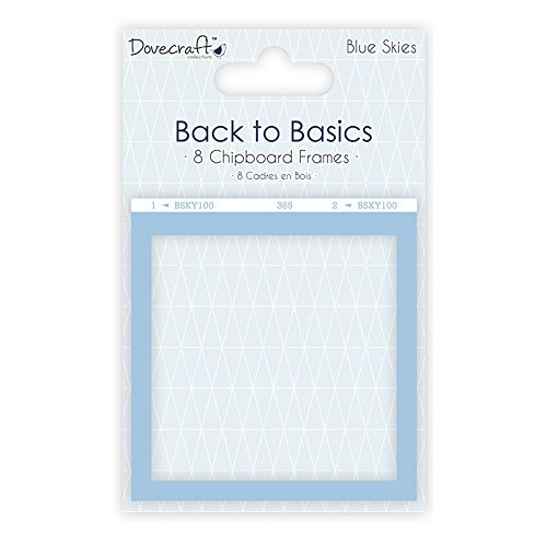 Dovecraft Back to Basics  Blue Skies Chipboard Frames