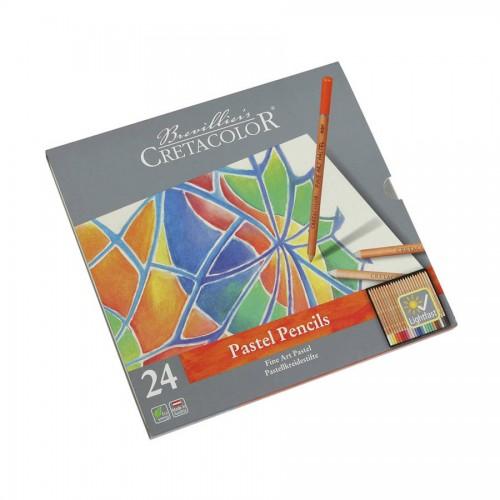 Pastellpliatsite Komplekt, 24 Värvi, Cretacolor