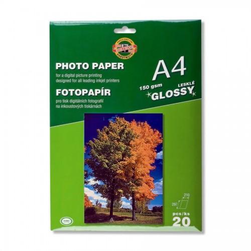 Fotopaber tindiprinteritele.Pakis 20 lehte.Läikiv.Kaal 150gsm