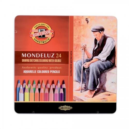 """Akvarellipliiatsite Komplekt """"Mondeluz""""  24Tk  K/Kvaliteet"""