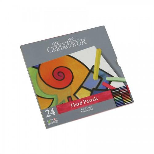 Pastelli  Komplekt/Tugev 24Tk  Met.Karbis, Cretacolor