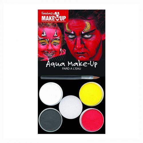 HALLOWEEN Make UP, Näovärvid 4Tk Saatan