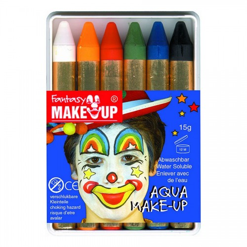 Body - Art Maaling, Aqua Make Up Komplekt 6Tk