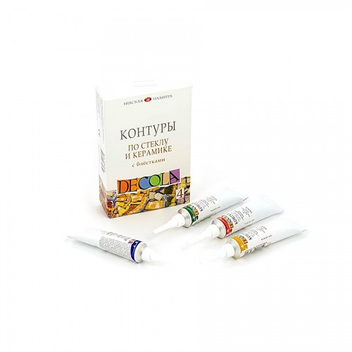 Kontuuri K-T Klaas-Keraamika,Glitter Dekola 4X18Ml.