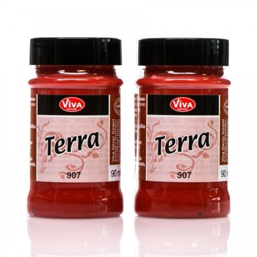 "Dekoratiivvärvid, Terra"" Terracotta Effect Colour - Marrocon-Red"
