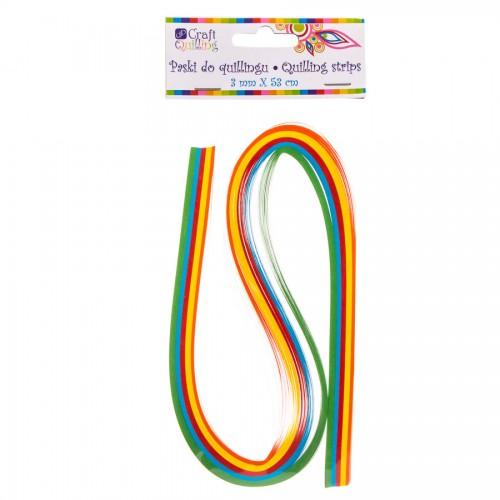 Quillingu Ribad 3Mm, 100Tk Rainbow