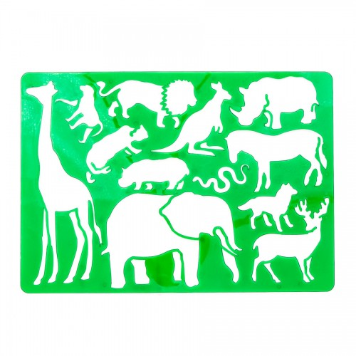 """Plastmassist šabloonid joonistamiseks 20.2cm x32.5cm """"Safari"""""""