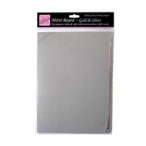 A4 Mirri Board (20Pk, 210Gsm) - Gold & Silver