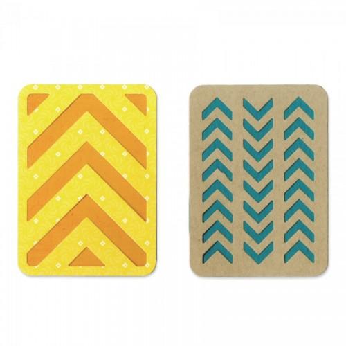 """-30%Thinlits Die Set 2Pk - 3"""" X 4"""" Cards #3 By Lori Whitlock"""