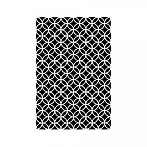 Stencil M Cm 30X44 Texture Circles And Rhombus
