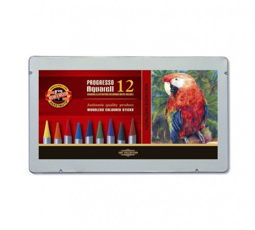 "Lakk-kattega akvarellipliiatsite k-t 12tk ""ProgressoAquarell"""