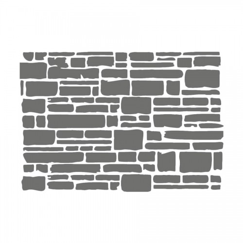 Sabloon D Cm20X15  Tekstuur Telliskivi