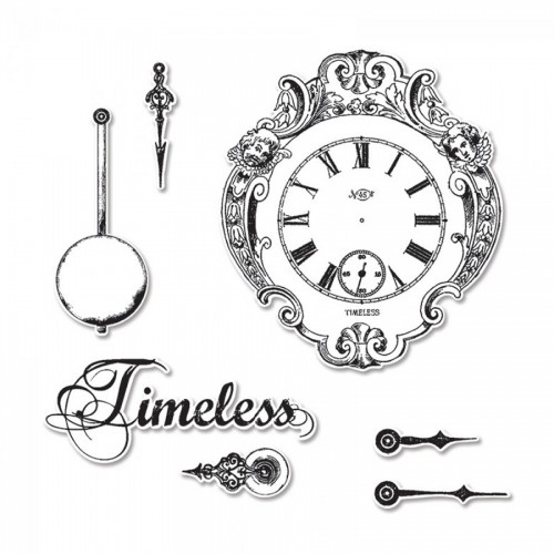 -50%Framelits Die Set 7Pk W/Stamps - Clocks By Graphic 45