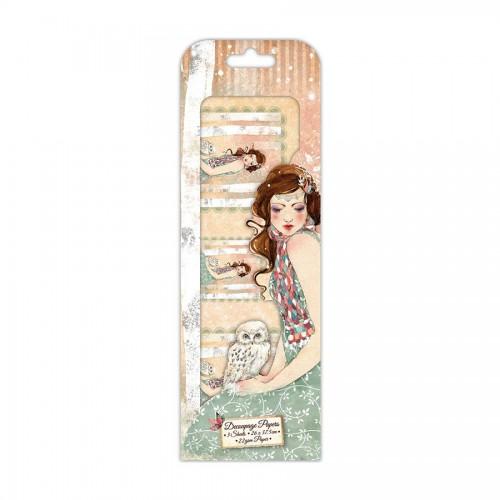 Santoro Willow Fsc Deco Mache Paper - Mademoiselle Snow Character