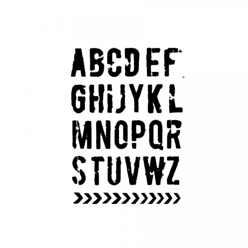 Sabloong Cm.21X29,7 Alphabet