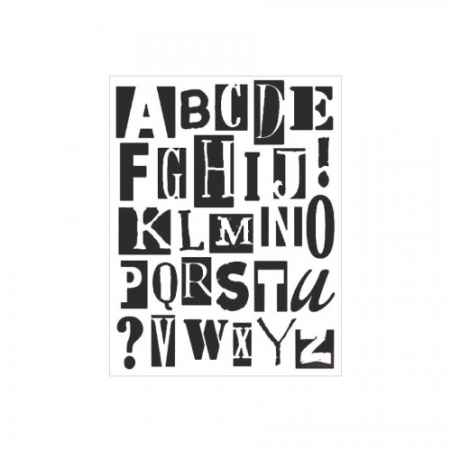 Sabloon  20X25Cm/0,2Mm Alphabet