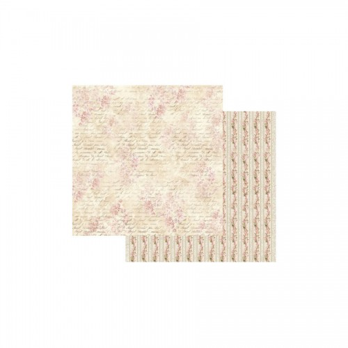 Scrapbookingu paber 30x30   - Pink Buttercup with writing
