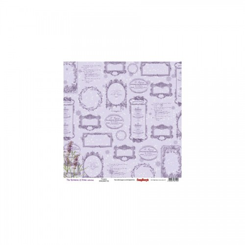 Scrapbookingu paber 30x30 cm- the Romance Of Xmas Xmas Flowers 190Gsm
