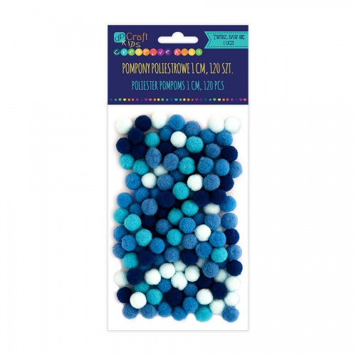 Dekoratiivsed Pallikesed 1Cm-Mix Sinine,120Tk