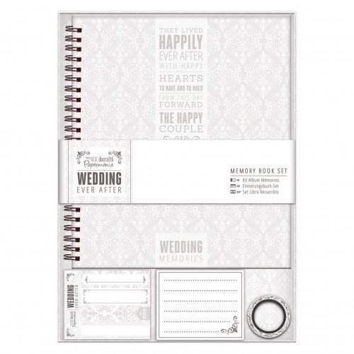 Album -mälestusteraamat - Wedding - Grey/White