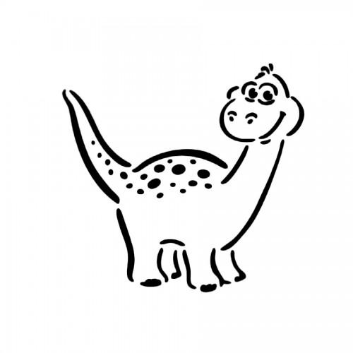 """All-Purpose Stencil A5 """"Dino Sam"""""""
