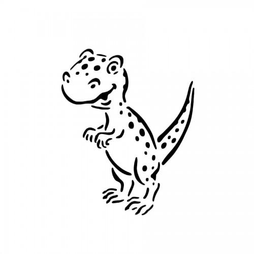 """All-Purpose Stencil A5 """"Dino Pocky"""""""