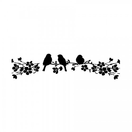 Sabloon 60X7Cm. Birds On Tree