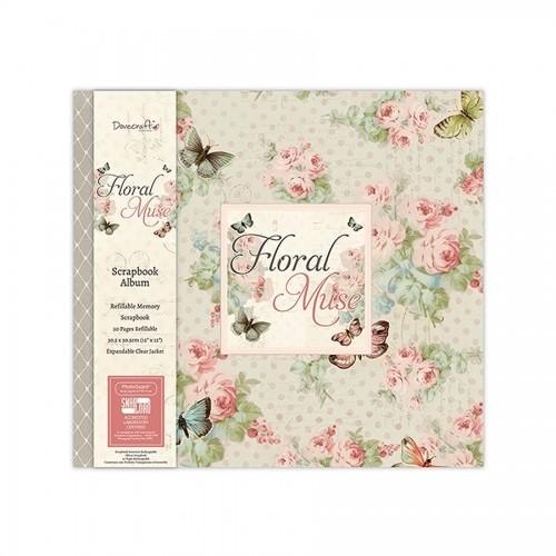 Scrapbookingu  album 30X30 cm -Floral Muse