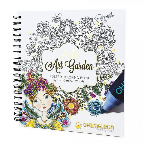"""""""Lori's Art Garden"""" värviraamat"""