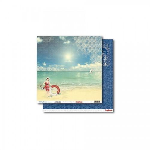 Scrapbookingu paber 30x30 cm- 190gsm  Holiday Romance - Touching Story