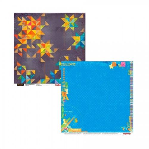 Scrapbookingu paber 30x30 cm-190 gsm -Basik's New Adventure- Fireworks