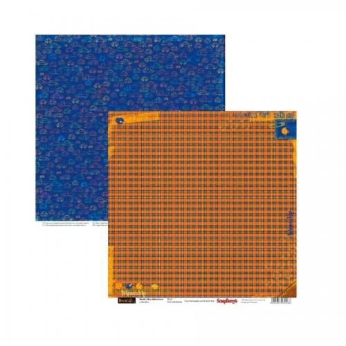 Scrapbookingu paber 30x30 cm- 190 gsm-Basik's New Adventure-Plaid