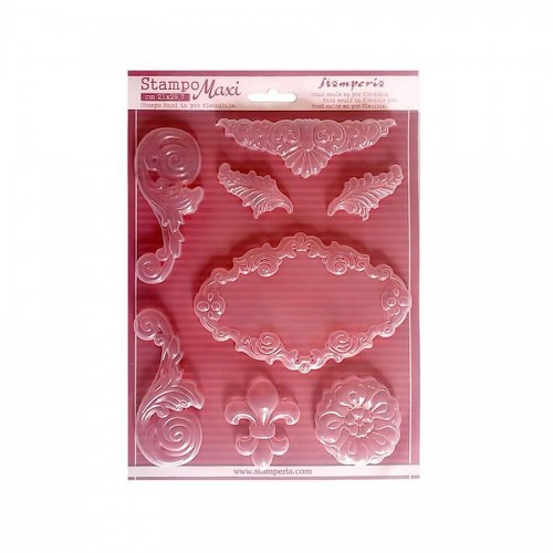 Soft Maxi Mould - Volutes And Ornaments