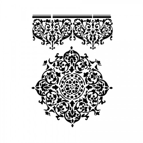 Sabloon 21X29.7Cm Lace Centre And Border