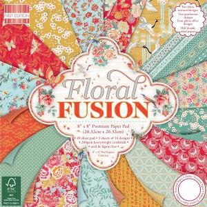 Набор бумаги для скрапбукинга,20х20см,Floral Fusio
