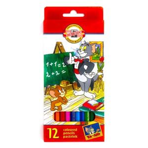 """Комплект Цветных Карандашей 12Шт """"Tom&Jerry"""""""