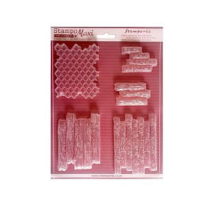 Soft Maxi Mould - Texture Bricks And Wood