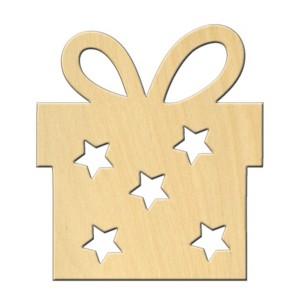"Wooden pc. for art 495 ""Present"" 7,5*8,5 cm"